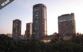 梅田がすぐ傍に見える。好立地なホテル。